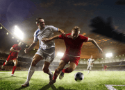Futbalový zápas na štadióne