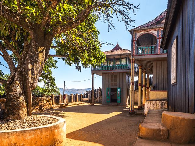 Budova v historickom komplexe Ambohimanga