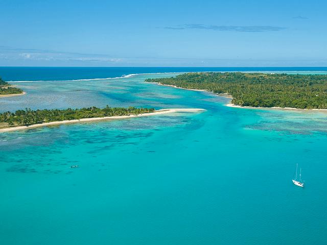 Ostrov Sainte Marie zo vzduchu, Madagaskar