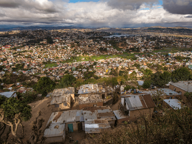 Panoráma mesta Antananarivo, Madagaskar