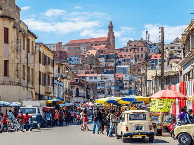 Ulice Antananarivo, Madagaskar